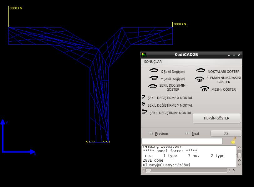Kedicad De Fea Uygulamasi Kedicad Linux Cad Cam Fea Software